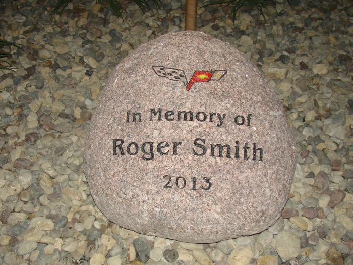 The employees at Smith Filter presented this stone In Memory of Roger Smith